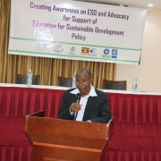 Chairperson NCC giving opening remarks